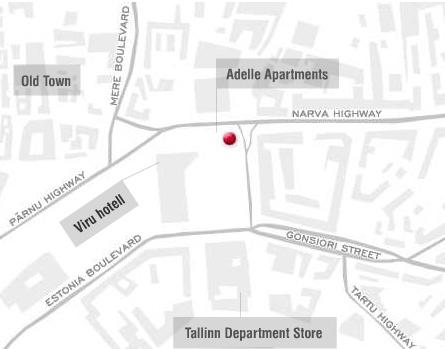 Adelle Apartments kartta Tallinna