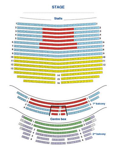 Tallinnan oopperan istuinkartta