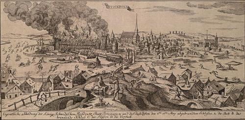 1697 Tre Kronor linnan tulipalo Tukholma