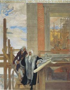 Carl Hårleman Nicodemus Tessin Tukholman kuninkaanlinnan työmaa