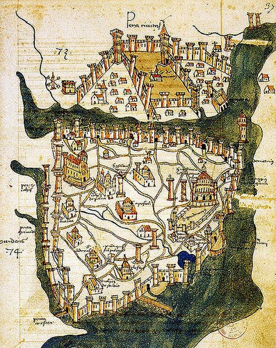 Cristoforo Buondelmonten Konstantinopolin kartta