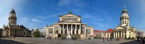 Gendarmenmarkt panorama Berliini