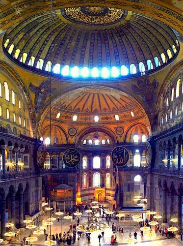 Hagia Sofia kupolin pendentiivit Istanbul