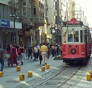 Raitiovaunu Istiklal caddesi Istanbul