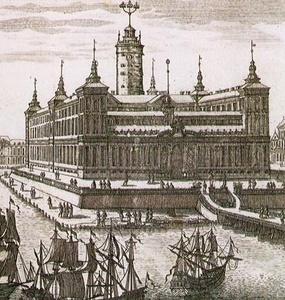 Jean de la Vallée ehdotus Tukholman kuninkaanlinnaksi v 1654