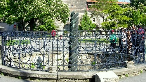 Käärmepylväs Konstantinopolin hippodromi Istanbul