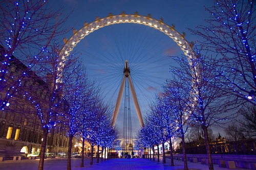 London Eye iltakuva Lontoo
