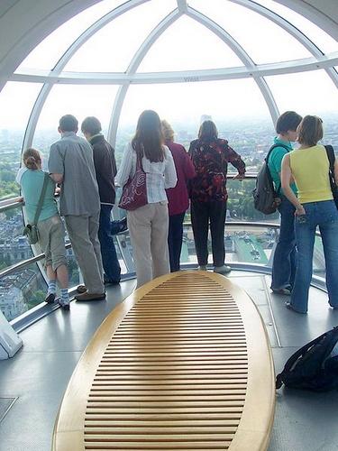 London Eye kapsulin sisällä Lontoo
