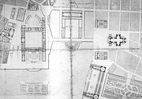 Nicodemus Tessin Tukholman kuninkaanlinnan ympäristön asemakaavaehdotus