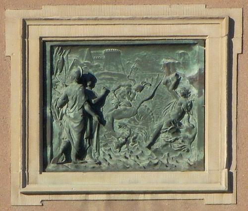 Perseus ja Andromeda Tukholman kuninkaanlinna kohokuvateos