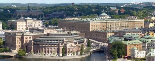 Ruotsin kuninkaanlinna Tukholman vanhassakaupungissa