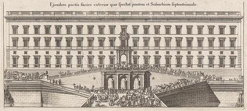 Suecia Antiqua et Hodierna Lejonbacken 1697 Tukholman kuninkaanlinna