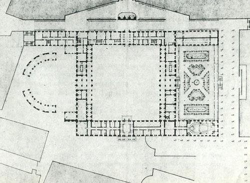 Tukholman kuninkaanlinna 1697 pohjapiirros Nicodemus Tessin nuorempi