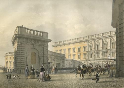 Tukholman kuninkaanlinna rokokoon keltainen 1800-luku