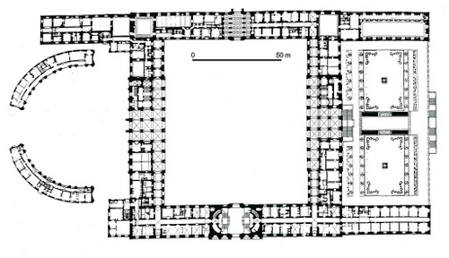 Tukholman linnan pohjakerros pohjapiirros