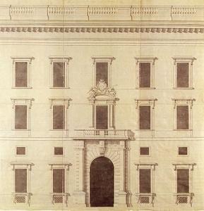 Tukholman linnan pohjoinen pitkätalo vuoden 1690 suunnitelma
