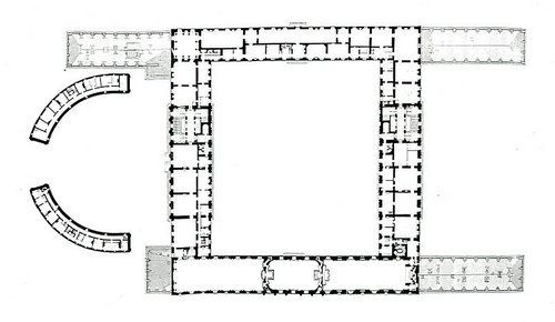 Tukholman linnan toinen kerros pohjapiirros
