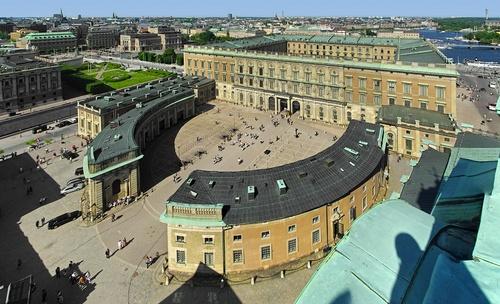 Ulkoinen linnanpiha Tukholman kuninkaanlinna