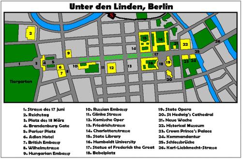 Unter den Linden kartta Berliini