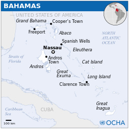 Bahama kartta sijainti