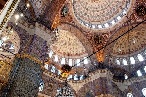 Istanbul Uusi moskeija sisätilat