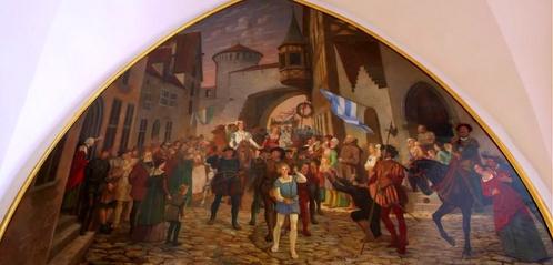 Lunette maalaus Suurkillan talo Tallinna