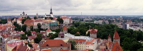 Olevisten kirkon tornin näköalatasanne Tallinna