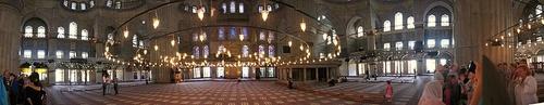 Sininen moskeija panorama sisätilat Istanbul