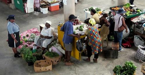 St Johns markkinapaikka Antigua ja Barbuda
