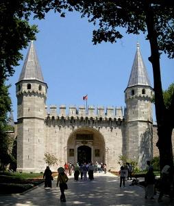 Tervehdysportti Topkapin palatsi Istanbul