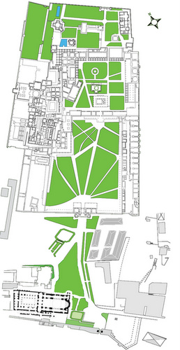 Topkapin palatsin kartta Istanbul