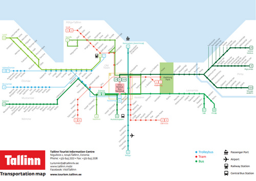 Tallinnan joukkoliikenne kartta