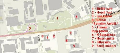 Yrjönyön puiston kartta Tallinna