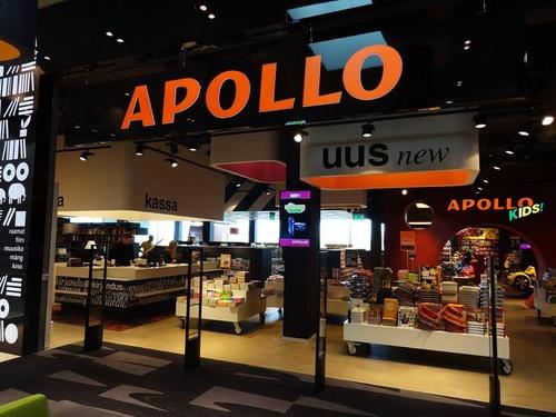 Apollo kirjakauppa Solaris ostoskeskus Tallinna