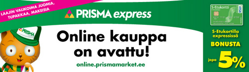Prisma Express Tallinna nettikauppa