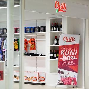 Chilli myymälä Mustika Keskus Tallinna