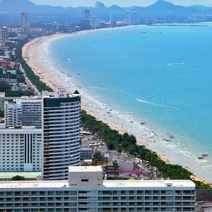 Jomtien Beach ranta Thaimaa