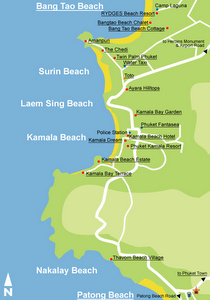 Kamala Beach Kartta Thaimaa