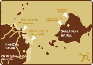 Khanom Koh Samui kartta Thaimaa