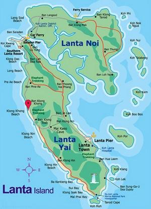 Koh Lanta Kartta Thaimaa