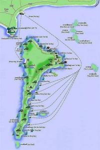 Koh Samet Thaimaa kartta