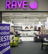 Rave Mööbel huonekalukauppa Järve Keskus Tallinna