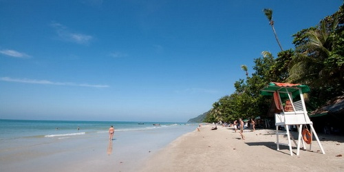 White Sand Beach Koh Chang Thaimaa