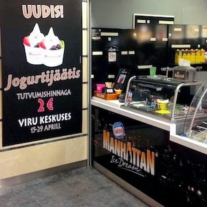 Manhatta Ice Dream jäätelökahvila Viru Keskus Tallinna