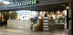 Starbucks Coffee kahvila Helsinki-Vantaan lentokenttä portti 32