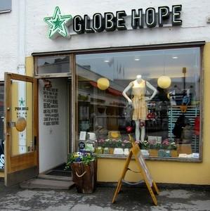 Globe Hope myymälä Lasipalatsi Helsinki