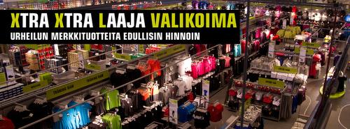 XXL urheiluliike tuotteet Helsinki