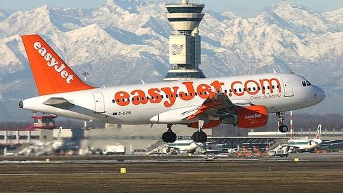 EasyJet Milano-Malpensan lentoasema Italia