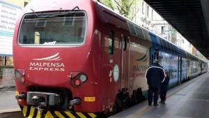 Malpensa Express lentokenttäjuna Milano