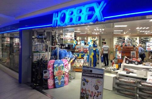Hobbex myymälä Ruotsi